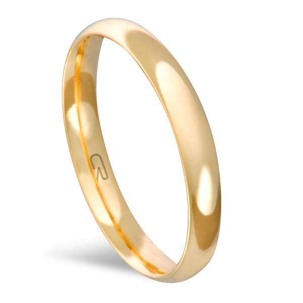 Aliança Folheada a Ouro Lisa 3 MM - 13210301