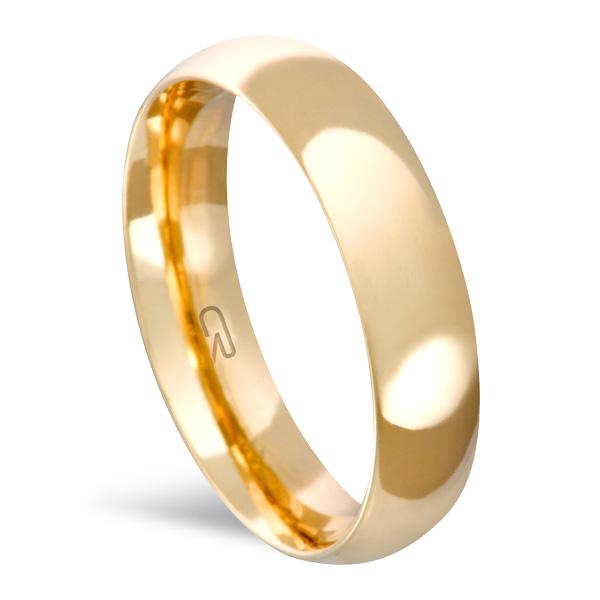 Aliança Folheada a Ouro Lisa 5 MM - 13210501